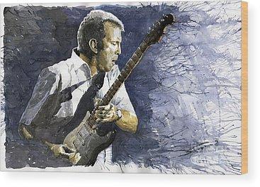 Eric Clapton Wood Prints