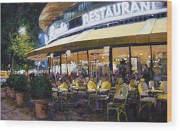 Kurfurstendamm Cafe Wood Prints