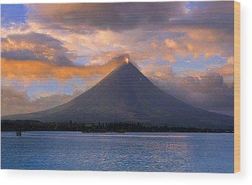 Mayon Volcano Wood Prints