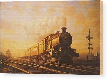 Vintage Trains Wood Prints