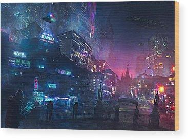 Cyberpunk Wood Prints