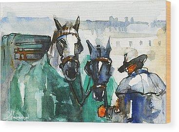Carriage Wood Prints