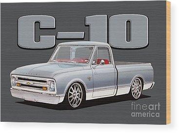 Chevy C10 Wood Prints
