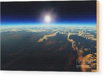 Astro Digital Art Wood Prints
