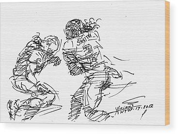 American Football Wood Prints