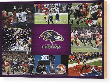 Baltimore Ravens Wood Prints