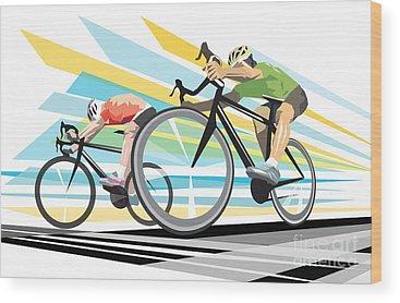 Cyclist Wood Prints