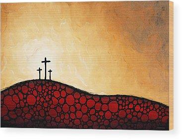 Crucifiction Wood Prints