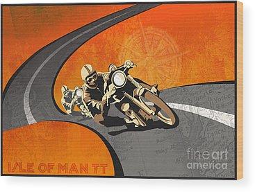 Motorbike Wood Prints