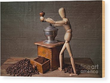 Coffee Grinders Wood Prints