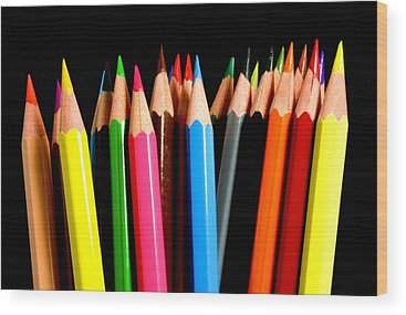 Pencils Wood Prints
