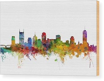 Nashville Skyline Wood Prints