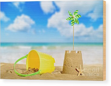 Sandcastles Wood Prints