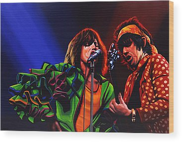 Art Rock And Roll Rolling Stones Wood Prints