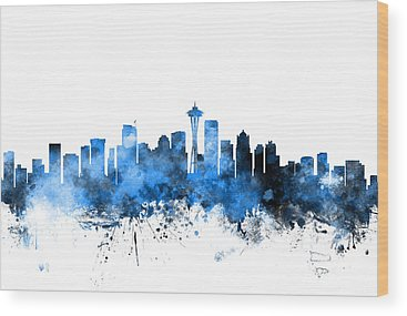 Seattle Skyline Wood Prints