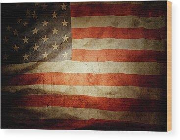 American Flag Wood Prints