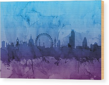 London Skyline Wood Prints