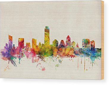 Austin Skyline Wood Prints