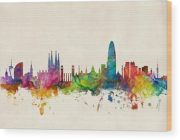 Paris Skyline Wood Prints