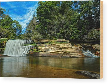 Mill Shoals Falls Wood Prints