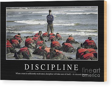 Discipline Wood Prints