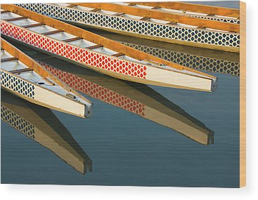 Dragon Boats Wood Prints