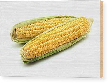 Corn Wood Prints