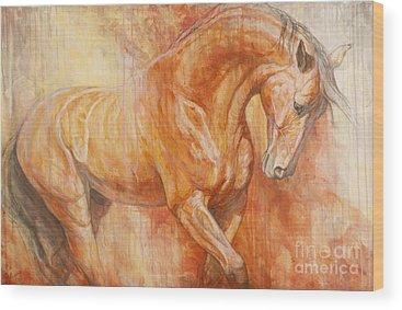 Bay Horse Wood Prints
