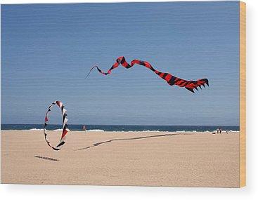 Kite Festival Wood Prints