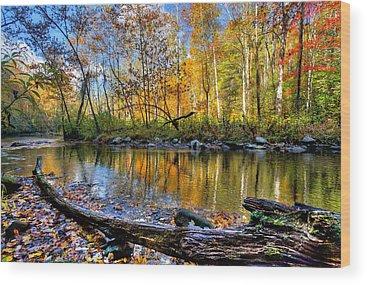 North Carolina Mountains Wood Prints