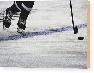 Ice Hockey Wood Prints