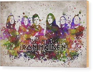 Iron Maiden Wood Prints