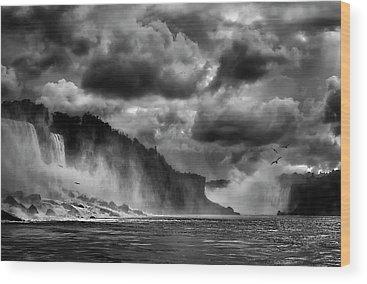 Famous Waterfall Wood Prints