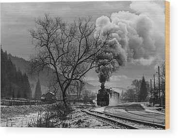 Steam Engine Wood Prints