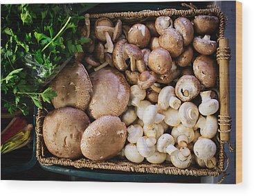 Portobello Mushroom Wood Prints
