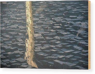Rooftops Wood Prints