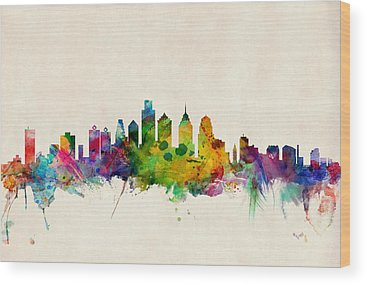Philadelphia Skyline Wood Prints