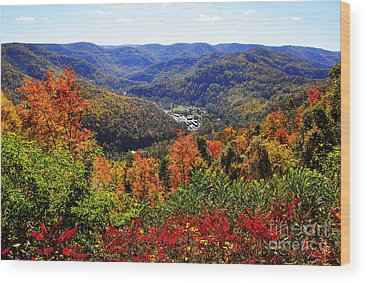 Allegheny Mountains Wood Prints