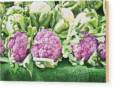Cauliflower Wood Prints