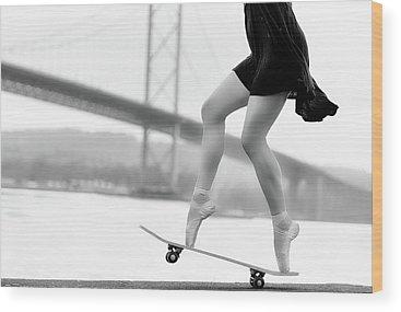 Skating Wood Prints