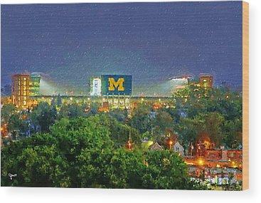 University Of Michigan Wood Prints