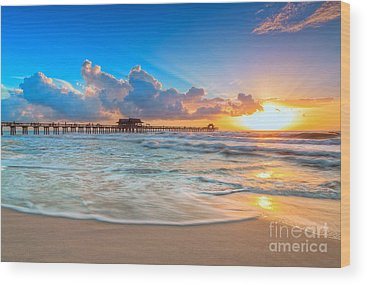 Naples Beach Wood Prints