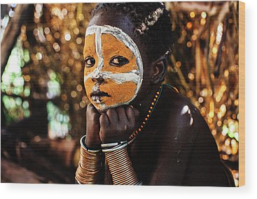 Indigenous People Photographs Wood Prints