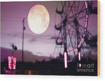 Ferris Wheel Wood Prints