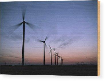 Prairie Sunset Wood Prints