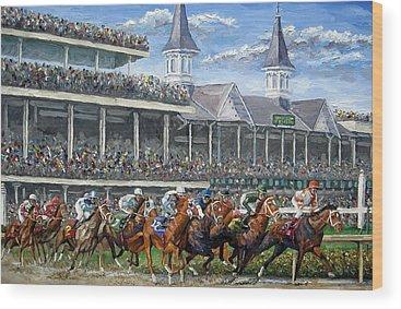 Horse Race Wood Prints