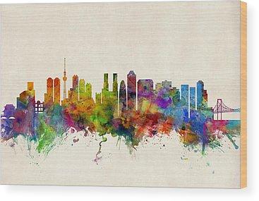 Tokyo Skyline Wood Prints