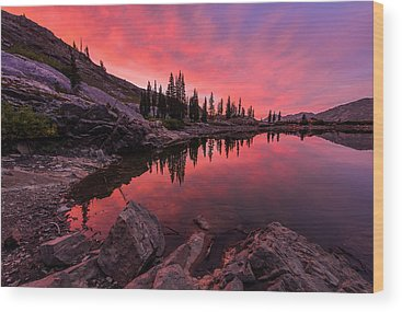 Mountain Sunset Wood Prints