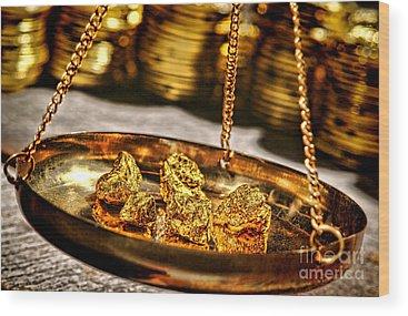 Gold Nugget Wood Prints
