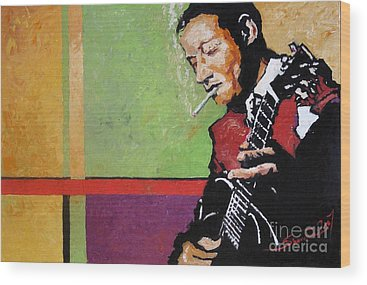 Guitarist Wood Prints